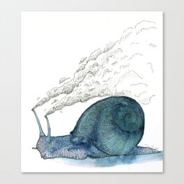 Escargot fumant Canvas Print
