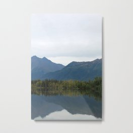 Fall Mountain Reflection 2 Metal Print