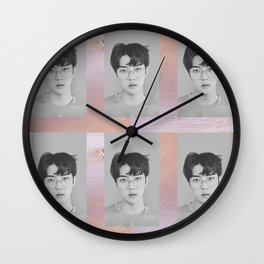 Sehun - Lucky One print Wall Clock