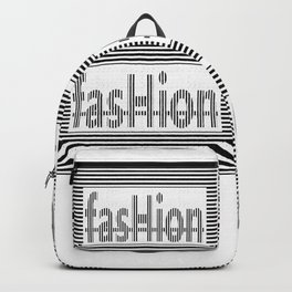 Fashion B and W Backpack