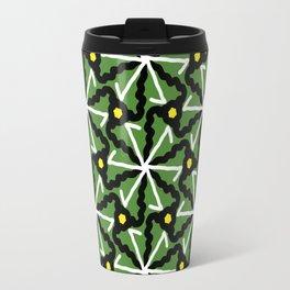 colorful illusion pattern background Travel Mug