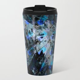 Abstraction. The strokes of paint. 2 Travel Mug