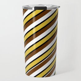 Team Colors...brown.gold,white and black Travel Mug