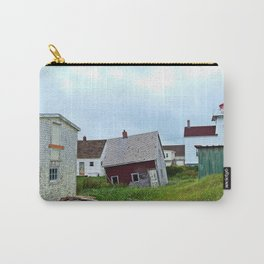 Lighthouse and shacks in North-Rustico PEI Carry-All Pouch