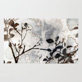 Desaturated Jungle Botanical Art Rug