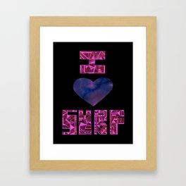 I HEART SURF Framed Art Print