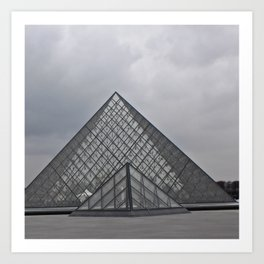 The Louvre Art Print