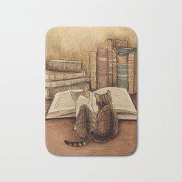 Kittens Reading A Book Bath Mat