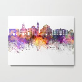 Zadar skyline in watercolor background Metal Print