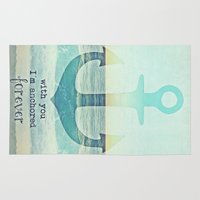 anchor Area & Throw Rugs featuring ANCHOR by Monika Strigel