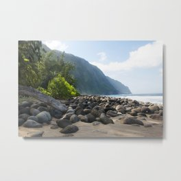 The Escape from the Kalaupapa Trail to the Beach Metal Print