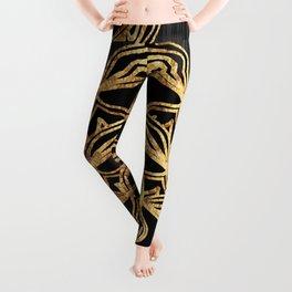 Gold Lace Sunrise Leggings