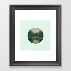 Mint Mountain Vignette Framed Art Print