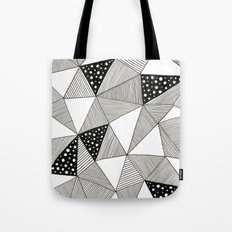 Pattern Triangles Tote Bag