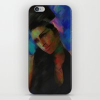 amy hamilton iPhone & iPod Skins featuring Amy by Darla Designs
