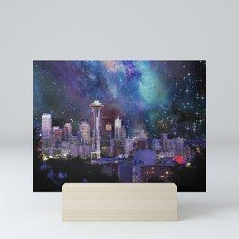 Spacey Seattle Mini Art Print