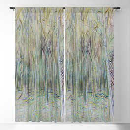 Forest Abstract Art Blackout Curtain