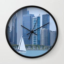 Sailing Past Chicago Wall Clock