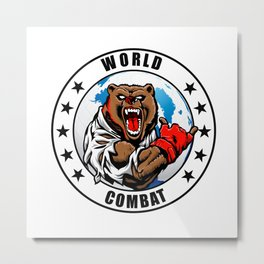 MMA fighter bear Metal Print
