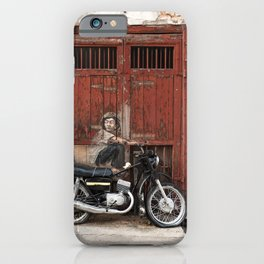 Boy On Motorcycle, George Town, Penang iPhone Case