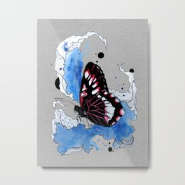 Butterfly III ink by carographic, Carolyn Mielke Metal Print