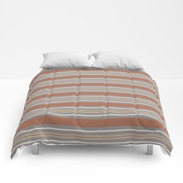 Cavern Clay SW 7701 Horizontal Line Pattern 6 and Accent Colors 4 Comforters