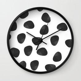 black rocks Wall Clock