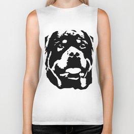Rottweiler Dog black white Biker Tank