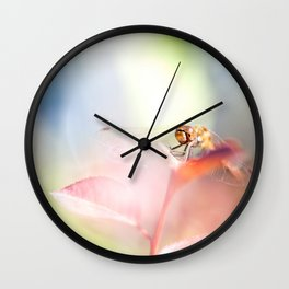 red dragonfly Wall Clock