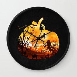 All Hallows Eve Wall Clock