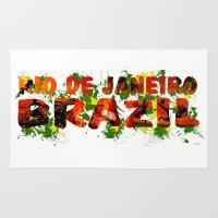 rio de janeiro Area & Throw Rugs featuring Rio de Janeiro by J. Ekstrom