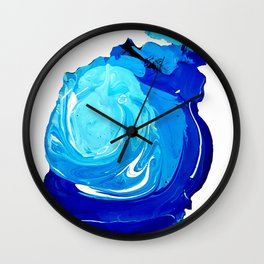 Paint Blob Wall Clock