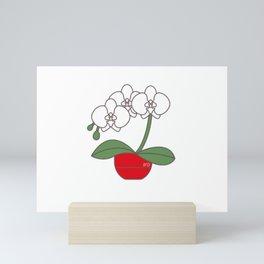 Pretty orchid Mini Art Print