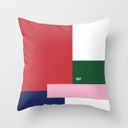 POP ART RED BLUE PINK AND GREEN #minimal #art #design #kirovair #buyart #decor #home Throw Pillow