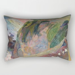 The Flageolet Player on the Cliff by Paul Gauguin Rectangular Pillow