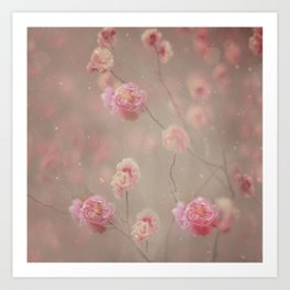 Rose, rose, red rose,  Rose in the heather... Art Print