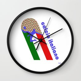 Calcio Italiano Wall Clock