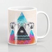 fierce Mugs featuring Fierce Lion by Kangarui
