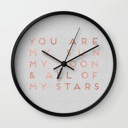 You Are My Sun Wall Clock