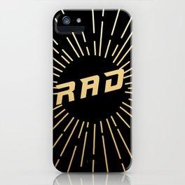RAD (gold/black) iPhone Case