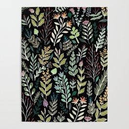 Dark Botanic Poster