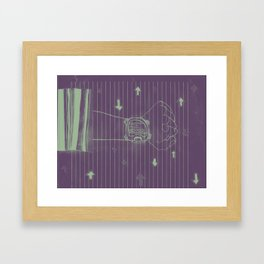 talkin about visions. Framed Art Print