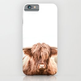 Highland Cow in a Field Southern iPhone Case