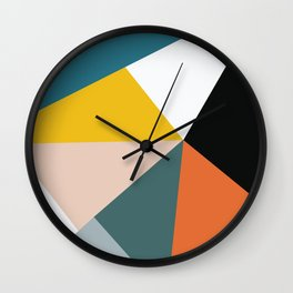 Triangles abstract colorful art Wall Clock