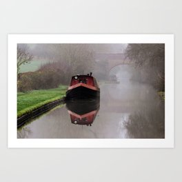 Mystical Boat on the Canal Art Print