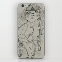 workout iPhone & iPod Skins featuring Workout by ahyeongcho