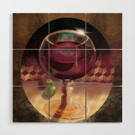 Wine and Grapes Wood Wall Art