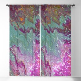 Pouring Pink Blackout Curtain