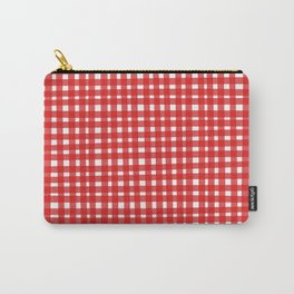Red Gingham Carry-All Pouch