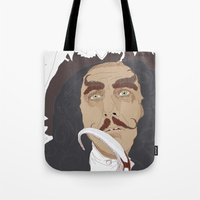 hook Tote Bags featuring HOOK by Itxaso Beistegui Illustrations